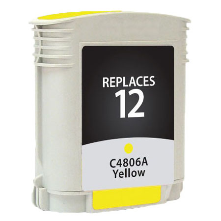 Premium Quality Yellow Inkjet Cartridge compatible with HP C4806A (HP 12)