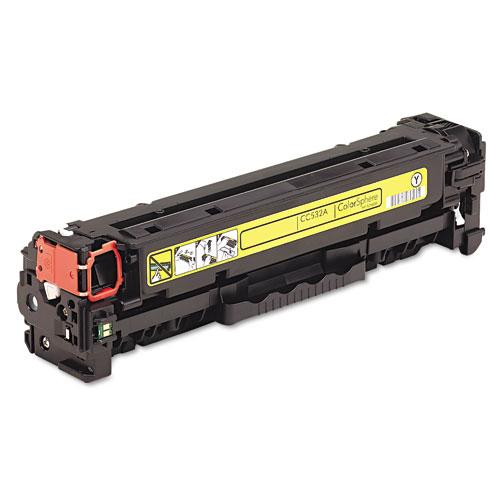 Premium Quality Yellow Toner Cartridge compatible with the HP (HP 304A, Canon 118) CC532A, 2659B001AA