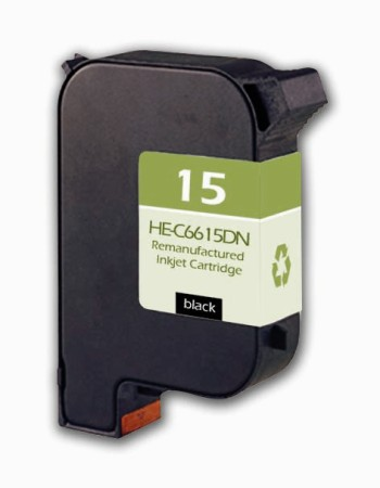 Premium Quality Black Inkjet Cartridge compatible with HP C6615DN (HP 15)