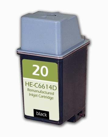 Premium Quality Black Inkjet Cartridge compatible with the HP (HP 20) C6614DN