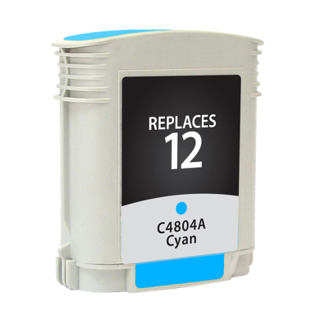 Premium Quality Cyan Inkjet Cartridge compatible with HP C4804A (HP 12)