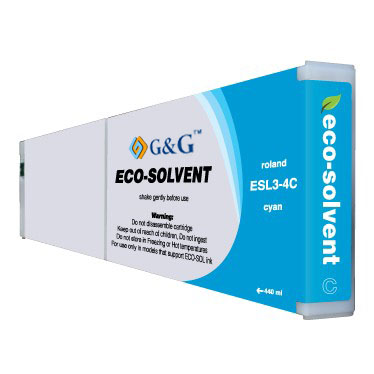 Premium Quality Cyan Eco Sol-Max Ink compatible with the Roland ESL3-4CY