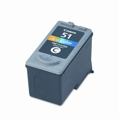 Premium Quality High Capacity Tri-Color Inkjet Cartridge compatible with the Canon (CL-51) 0618B002