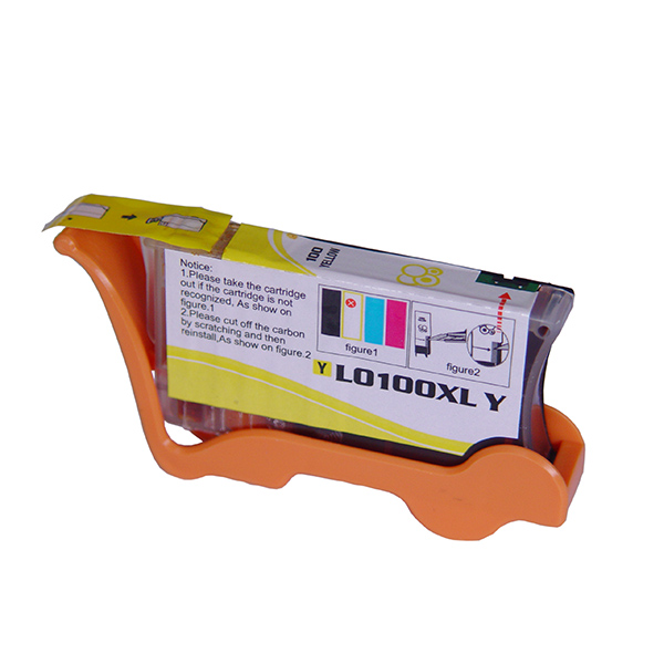 Premium Quality High Capacity Yellow Ink Cartridge compatible with the Lexmark (#100Y XL) 14N1071