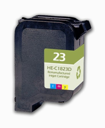 Premium Quality Color Inkjet Cartridge compatible with HP C1823D (HP 23)