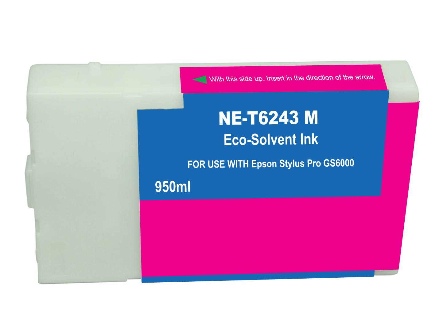 Premium Quality Magenta Solvent Inkjet Cartridge compatible with the Epson T624300