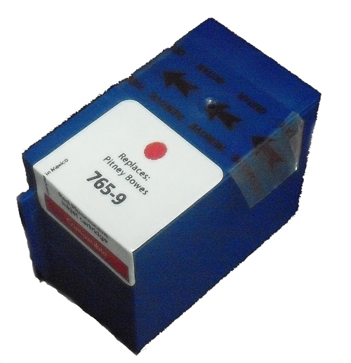 Premium Quality Red Inkjet Cartridge compatible with the Pitney Bowes 765-9