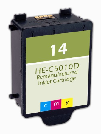 Premium Quality Color Inkjet Cartridge compatible with the HP (HP 14) C5010DN