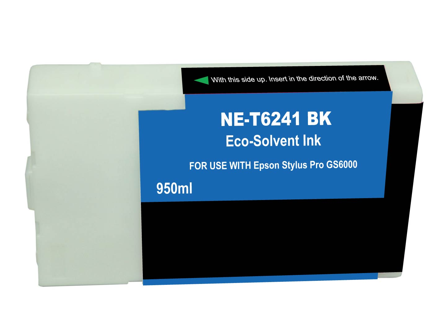 Premium Quality Black Solvent Inkjet Cartridge compatible with the Epson T624100