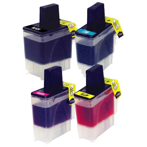 Premium Quality BK, C, M, Y Inkjet Cartridges compatible with Brother LC-41BK (LC-41M)