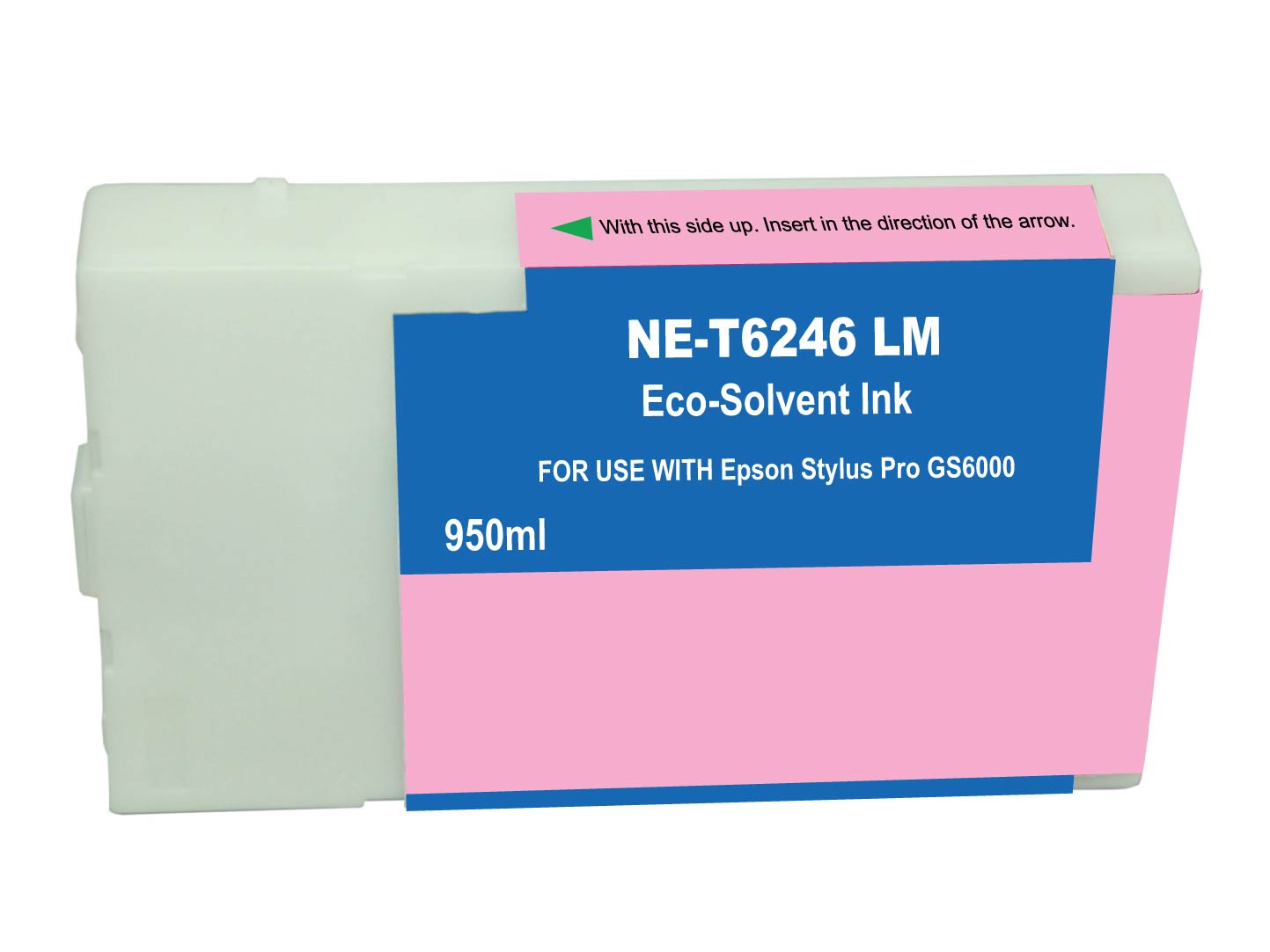 Premium Quality Light Magenta Solvent Inkjet Cartridge compatible with the Epson T624600