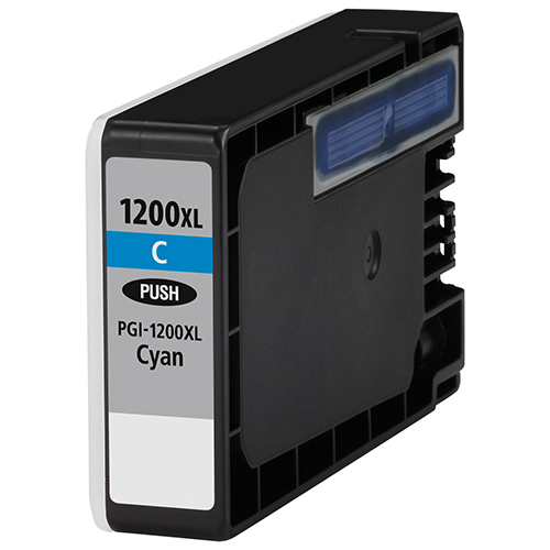 Premium Quality High Capacity Cyan Inkjets compatible with the Canon (PGI-1200xl C) 9196B001