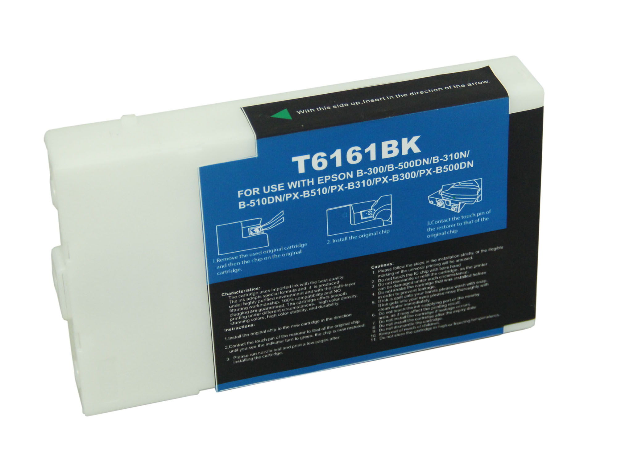 Premium Quality  Black   Inkjet Cartridge compatible with the Epson  T616100