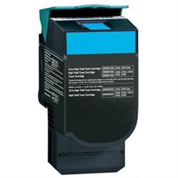 Premium Quality Extra Hi-Yield Cyan Toner Cartridge compatible with the Lexmark C544X2CG