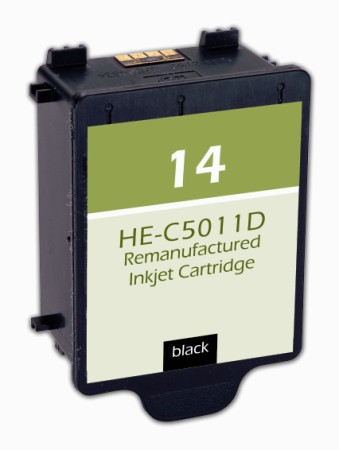 Premium Quality Black Inkjet Cartridge compatible with the HP (HP 14) C5011DN