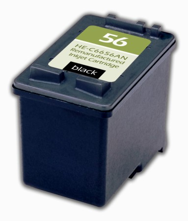 Premium Quality Black Inkjet Cartridge compatible with HP C6656AN (HP 56)