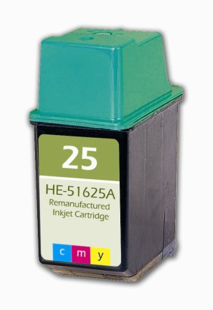 Premium Quality Tri-Color Inkjet Cartridge compatible with the HP (HP 25) 51625A