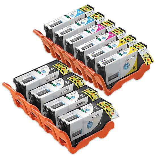 Premium Quality BK, C, M, Y High Yield Inkjet Cartridges compatible with Lexmark 14N1068 (14N1070)