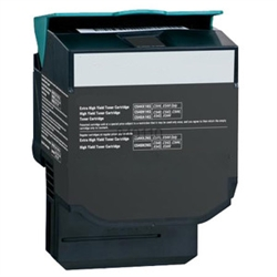 Premium Quality Extra Hi-Yield Black Toner Cartridge compatible with the Lexmark C544X2KG