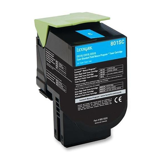 Premium Quality Cyan Toner Cartridge compatible with Lexmark 80C1SC0